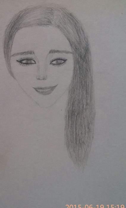 第一次画。画的太差了。眼睛和鼻子不懂画还有很多   求大神指点