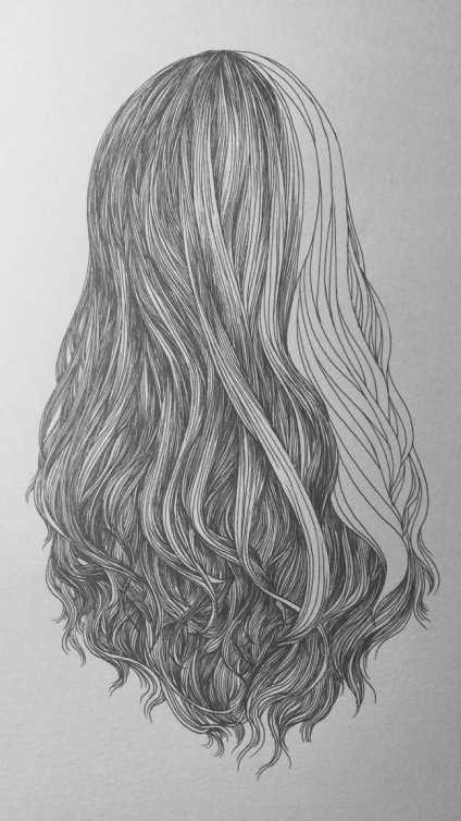 线描头发的玩法~