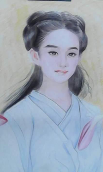 赵丽颖妖神素描视频_花千骨妖神用铅笔画的图片大全