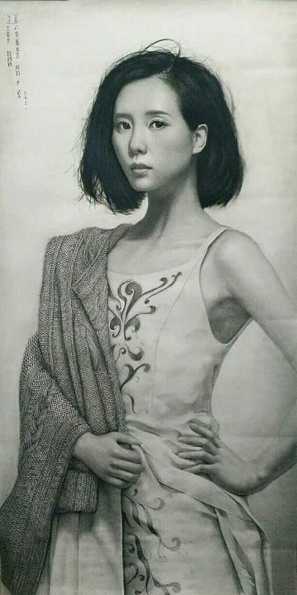 我的最新素描作品《刘诗诗超写实素描》2个月的绘画旅程结束。继续加油…